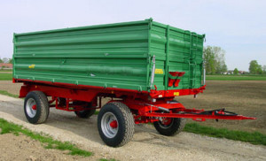 traktorska prikolica sa dve osovine
